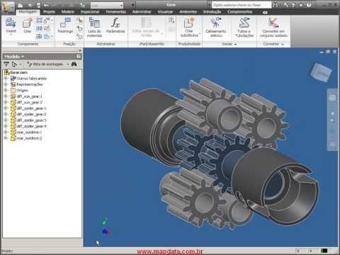 Autodesk Inventor 2010 em português - Abertura de arquivos nativos Pro-ENGINEER