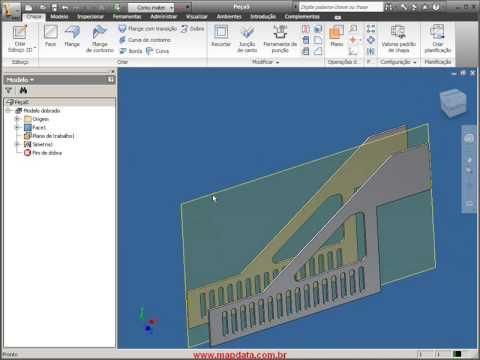 Autodesk Inventor 2010 em português - Chapas (Sheetmetal)