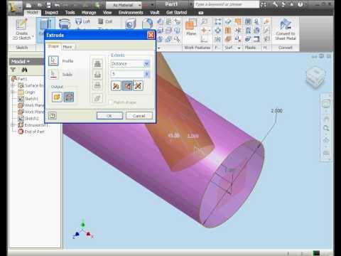 Autodesk Inventor 2010 Tutorials surface design