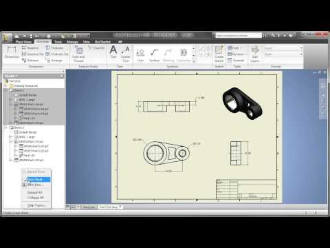 Part 5: AutoCAD Inventor LT Suite - Creating Multi-Sheet Drawings