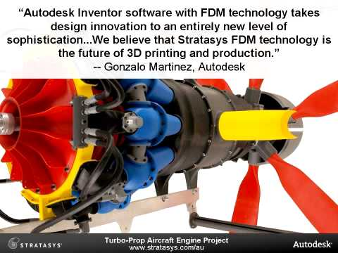 Stratasys & Autodesk Produce First Full-Scale Turbo-Prop Aircraft Engine Model with 3D Printing