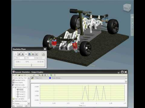 Chassis Tipping Analysis using Autodesk Inventor 2010 Simulation