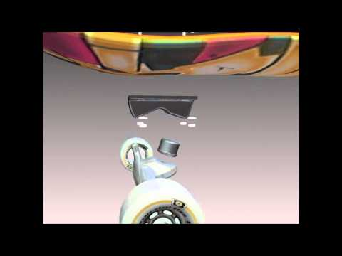 Skateboard Animation - Autodesk Inventor 2011 -