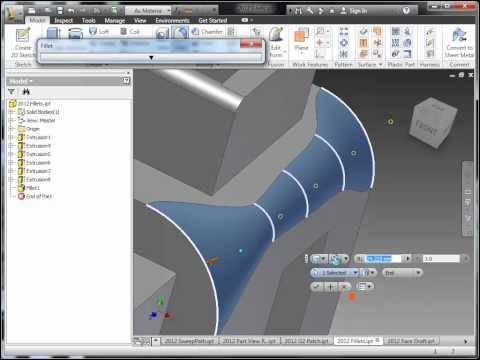 Inventor 2012 Part Modeling Enhancements