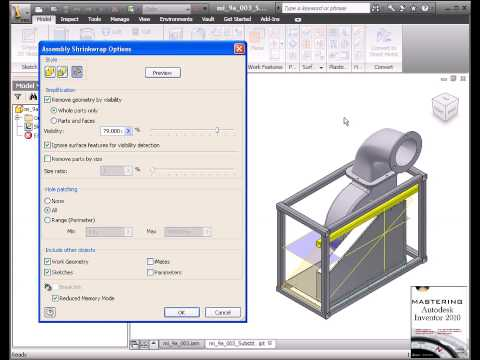 Autodesk Inventor Substitute Shrinkwrap Level Of Detail