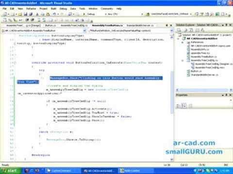 Develop Autodesk Inventor Addin using C# - Part 3