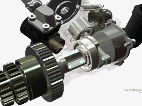 Autodesk Inventor 3D Motor Animation