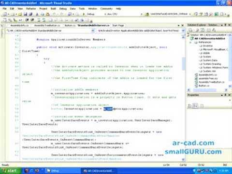 Develop Autodesk Inventor Addins using C# - Part 2a