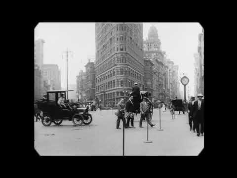 1911 - A Trip Through New York City (speed corrected w/ added sound)