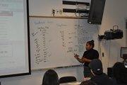 Shay teaching a class at Boyle Heights Tech Center