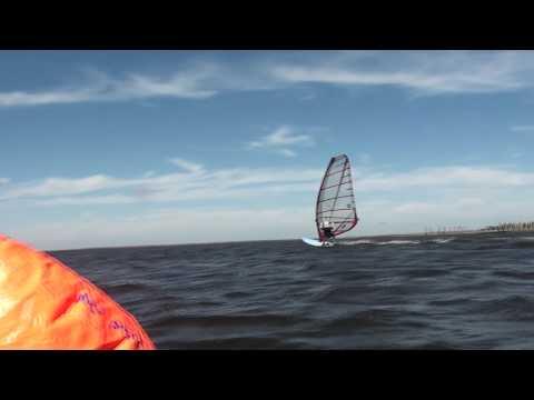 Windsurfing, Jibes, Cape Hatteras, NC, October 17, 2011