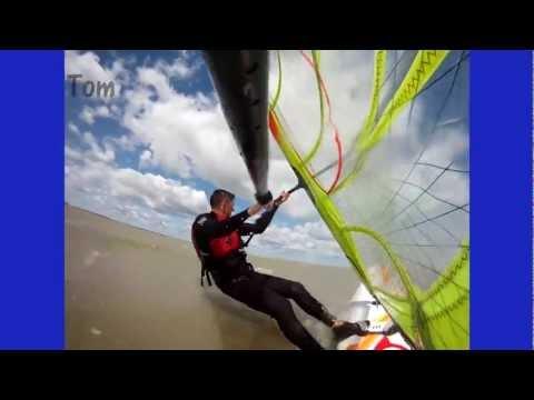 Windsurfing, Maumee Bay, OH, Lake Erie, September 8, 2012