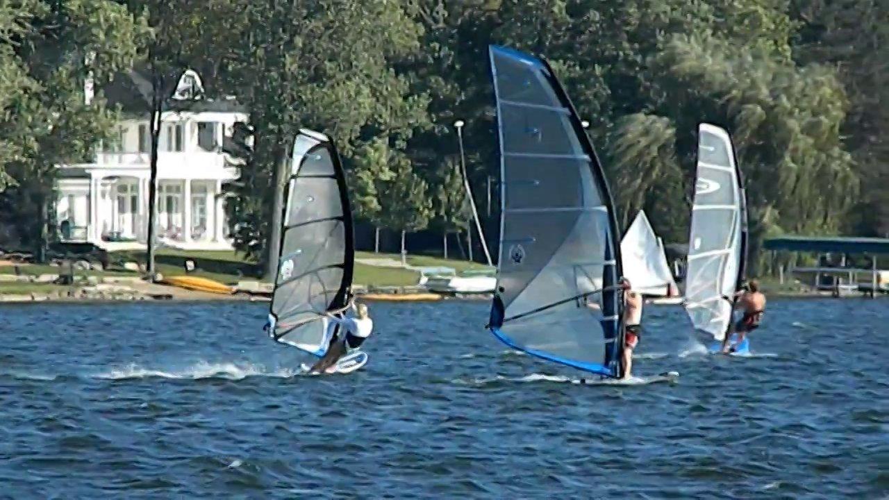 Windsurfing Lake Lansing: not long now...