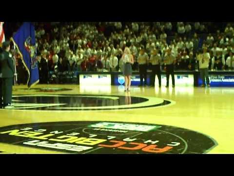 Kellie Lynne-Singing The National Anthem for Penn State University