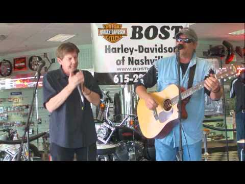 Crowding 50 playing Bost Harley Davidson for the NashvilleEar.com Songwriter Stage
