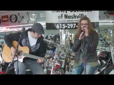 Jim Huish and Brittany Blaire playing at Bost Harley Davidson Jan 7th 2012