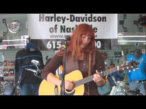crystal chandler entertaining at Bost Harley Davidson
