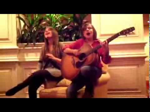 Karoline Rhett and Beamer Wigley perform Wrecking Ball, cover song by Miley Cyrus