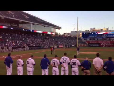 Casi McCall National Anthem at The Royals Game