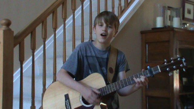 """John-Robert Singing his Original """"Daydreamer"""""""