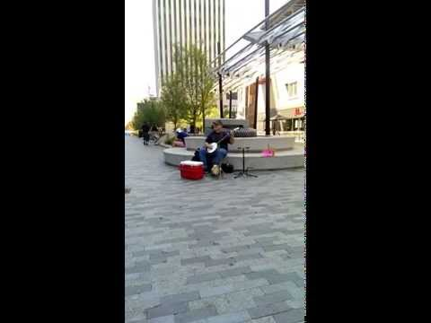 Greenville, South Carolina Street Performer Plays: Leaning On The Everlasting Arms.