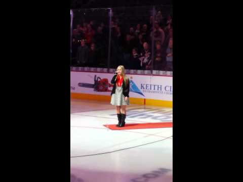 Kristy Lynn Nation Anthem for the Charlotte Checkers on 12/8/2014