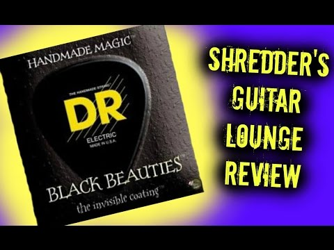 Shredder's Guitar Lounge: DR Strings Black Beauties Guitar Strings Review, Restringing, and Demo