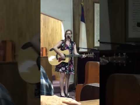 Hanah singing How Great Thou Art