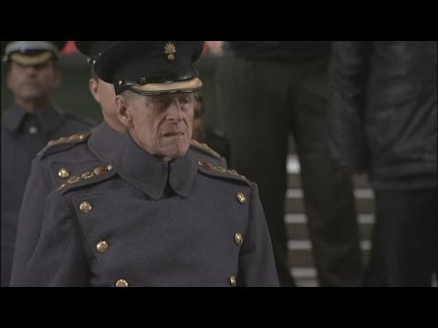 Prince Philip lays wreath in Ypres