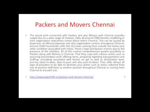 Packers and Movers in Chennai