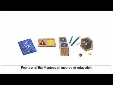 Maria Montessori - Google Doodle