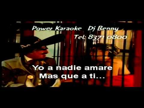 A QUIEN VAS AMAR MAS QUE A MI - Vicente Fernadez Voz Power Karaoke.MPG