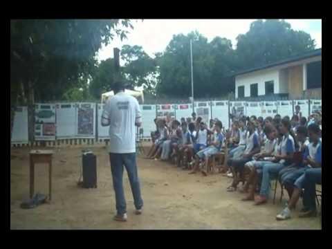 Exposição Oficina UHE Teles Pires  Escola Municipal Cristo Redentor em Paranaíta/MT
