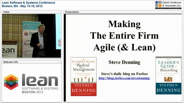 LSSC12: Making the Entire Firm Agile (& Lean) - Steve Denning
