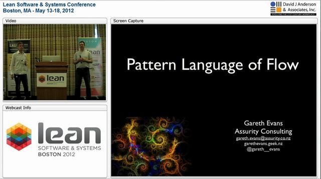 LSSC12: Pattern Language of Flow - Gareth Evans