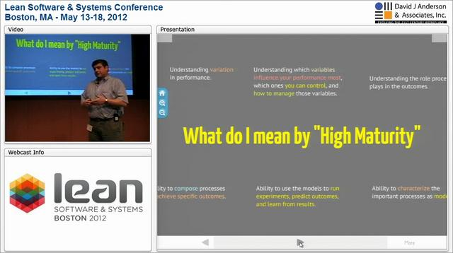 LSSC12: High Performance Operations: Using Lean and Kanban to Achieve High Maturity - Hillel Glazer