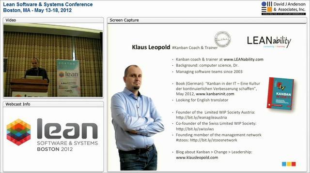 LSSC12: Kanban Change Leadership - Klaus Leopold