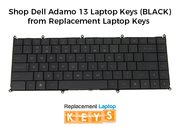 Shop Dell Adamo 13 Laptop Keys (BLACK) from Replacement Laptop Keys