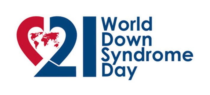 world down syndrome day logo with heart shaped 21