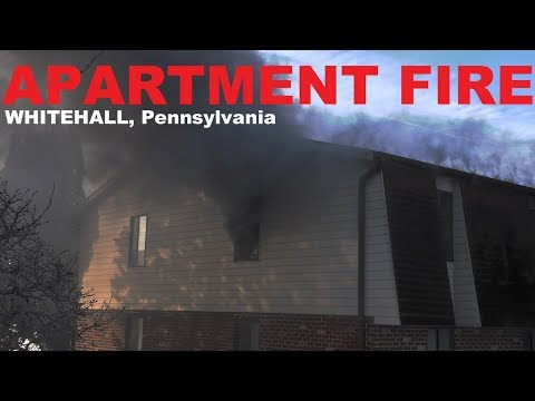 Apartment fire at the Barkley Village Apartments in Whitehall, PA.