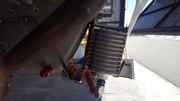 Oil cooler side view