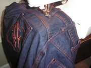 sewing the belt loops on jeans