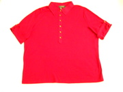 R L Red Duel Sleeve Blouse