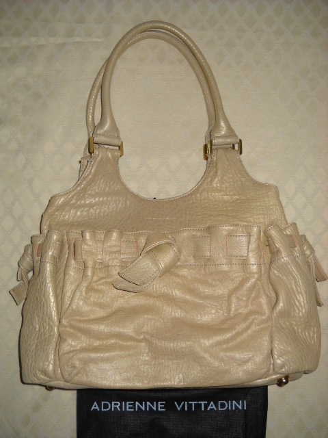 Adrienne Vittadini Frosted Gold Leather