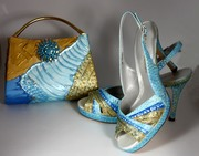 Painted Purse with Coordinating Shoe