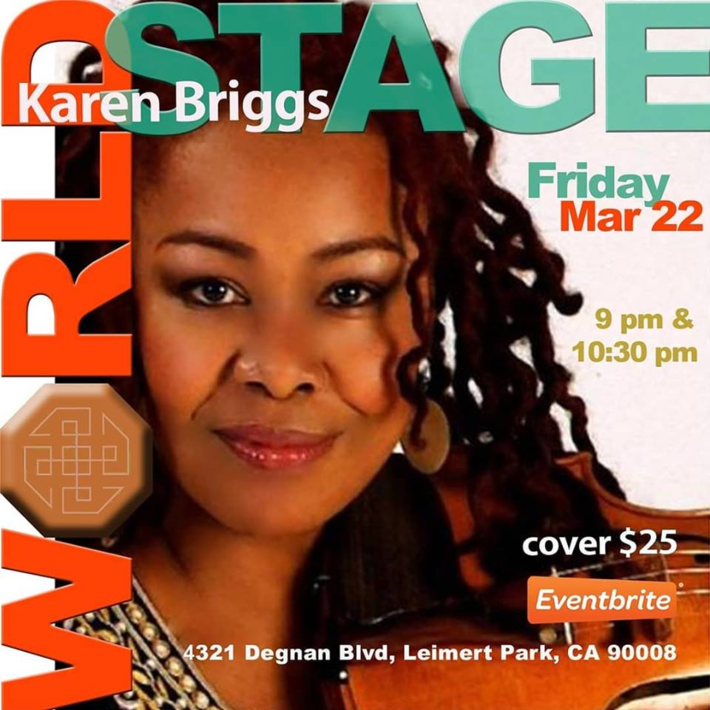 """KAREN BRIGGS """"The Original Lady in Red"""" @ The 'new' World STAGE ~"""