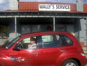 Gassin' up at Wally's Service in Mt. Airy, NC