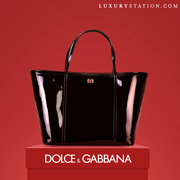 Dolce and Gabbana patent escape shopper