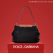 Dolce and Gabbana Agata Leather Bag