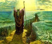 Moises separa o mar